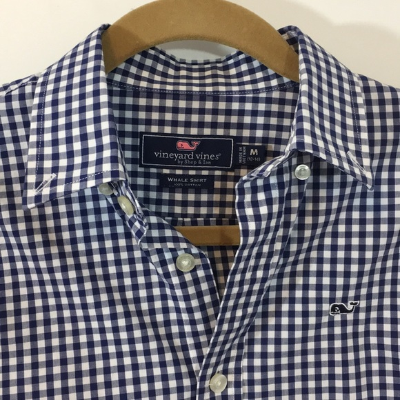 faafb56e Vineyard Vines Shirts & Tops | Boys Classic Gingham Whale Shirt Host ...